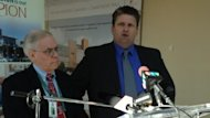 "Windsor Regional Hospital CEO David Musyj, right, called the number of flu cases in Windsor ""troubling."""