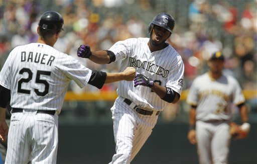 Pirates hit 4 homers in 9-6 win over Rockies