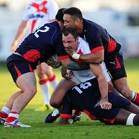 Adrian Morley, centre, is expecting a tough final against France