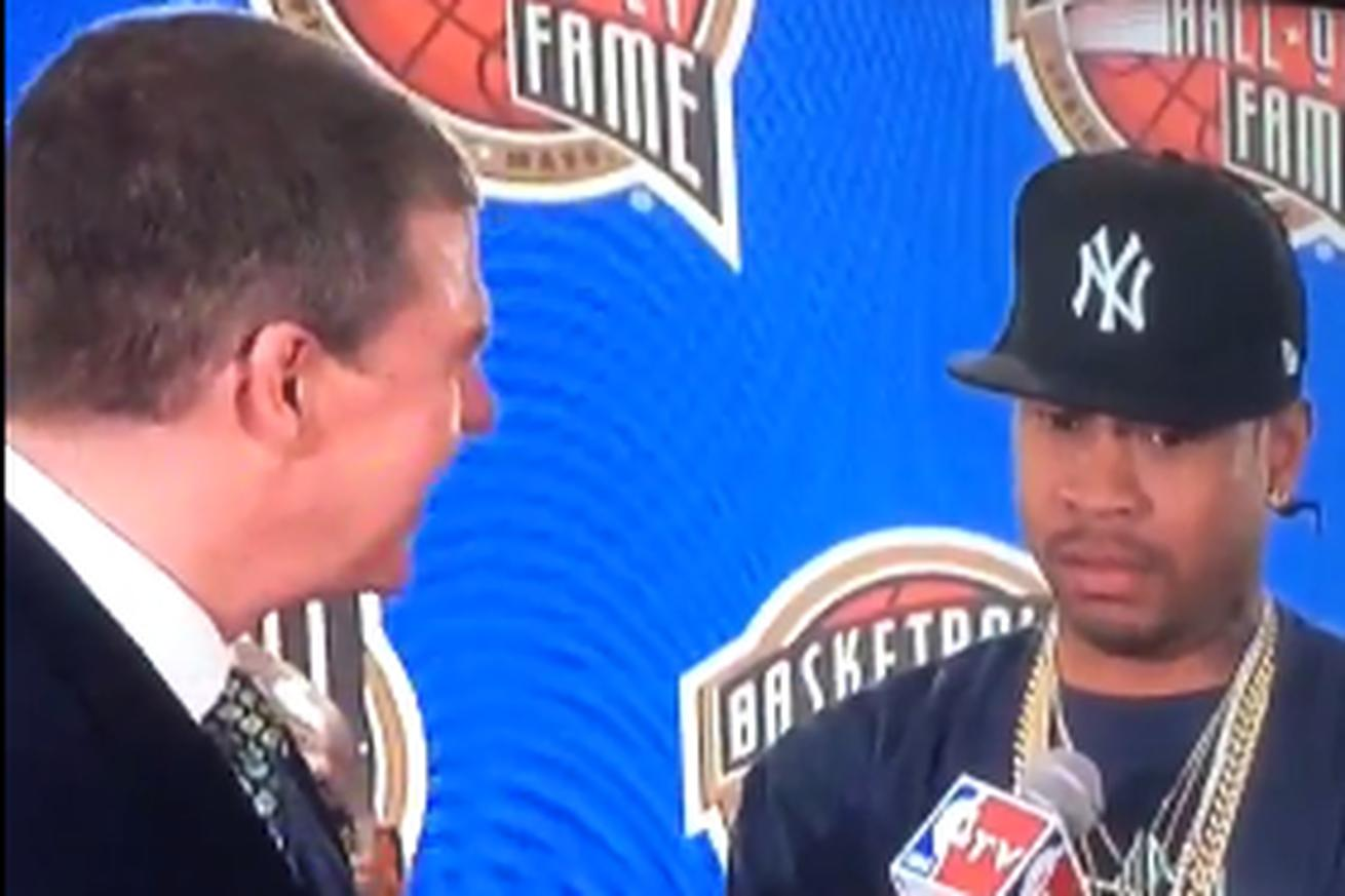 Allen Iverson skeptical about summer hang-out until he realizes it's Hall of Fame enshrinement
