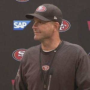 Raw Video: 49ers Head Coach Jim Harbaugh On Levi's Stadium Turf