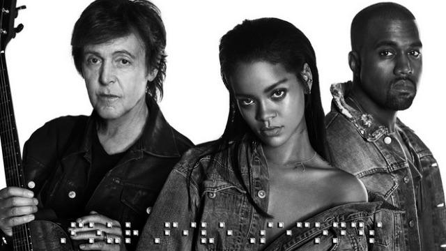 Surprise! Rihanna Drops New Song With Kanye West and Paul McCartney