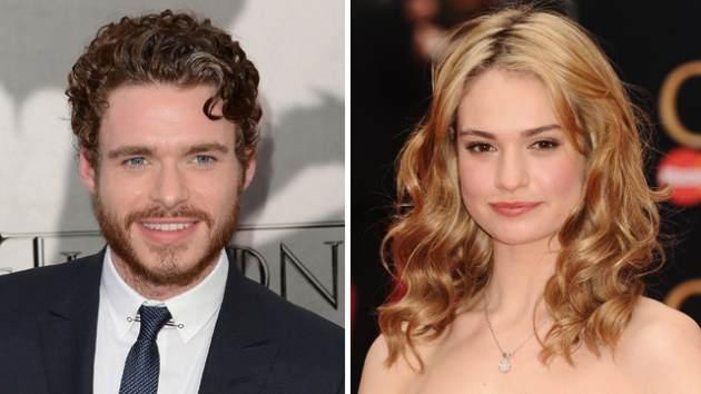 Richard Madden, Lily James -- Getty Images