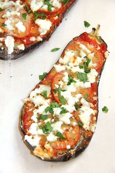 Roasted Eggplant Parmesan with Feta