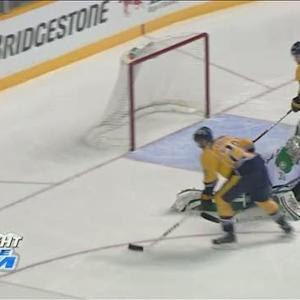 Gaustad lures Lehtonen out of net to score