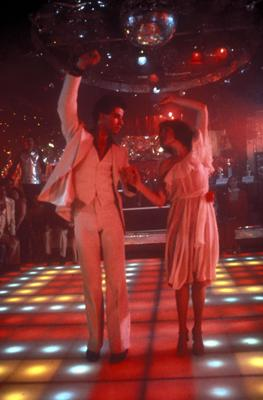John Travolta and Karen Lynn Gorney in Paramount Picture's  Saturday Night Fever