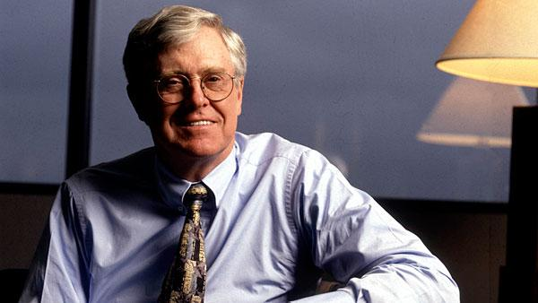 5. Charles G. Koch, 76 Company: Koch Industries  Net worth: $24.7 billion  Compensation: N/A   Charles G. Koch has been the chairman and CEO of Koch Industries — one of the largest privately owned companies in the U.S. — since 1967. The group's annual revenue is more than $100 billion, according to Forbes.   Koch Industries was co-founded by Charles's father Fred C. Koch and classmate Lewis E. Winkler in 1925 as Winkler-Koch Engineering. The company developed an innovative cracking method of turning crude oil into gasoline. After the death of Fred Koch in 1967, sons Charles and David Koch, both engineers, took control of the Kansas-based mid-size firm and expanded the Koch empire globally to have a presence in 60 countries with interests in energy, textiles, petrochemicals and pulp and paper. Koch Industries is considered among the world's top independent oil traders by turnover.   Charles Koch's stake in the group is estimated to be at least $22.4 billion, according to Wealth-X. Other big assets include his homes in Aspen, Colorado and Indian Wells, California, which are estimated to be worth $7 million and $5 million respectively.   The Koch brothers are known for their activism on conservative causes. The duo has been pumping millions of dollars into libertarian groups and political campaigns of right-wing politicians and candidates since the 1960s. In 2011, the brothers were named among the 100 most influential people in the world by Time Magazine, largely due to their financial support for Tea Party causes.  Photo: John Chiasson | Liaison | Getty Images