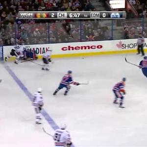 Jeff Petry Hit on Brandon Saad (13:13/1st)