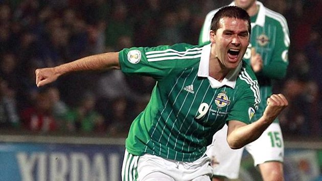 Northern Ireland's David Healy celebrates (Reuters)