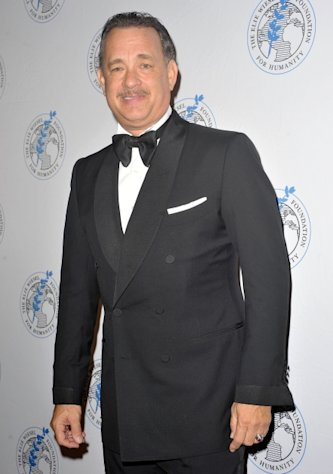 Tom Hanks attends the 2012 Arts For Humanity Gala at New York Public Library in New York City on October 17, 2012  -- Getty Premium