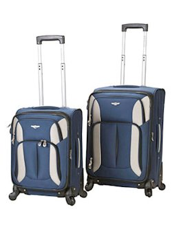 Rockland 2-piece spinner carry-on luggage set