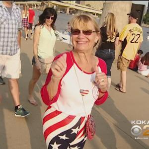 Pittsburghers Gather To Watch Fireworks, Show American Pride