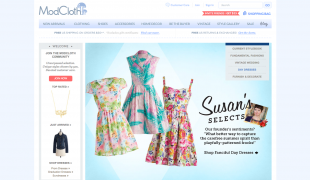ModCloth Proves Online Personalization Helps Companies Grow image ModCloth homepage 310x180