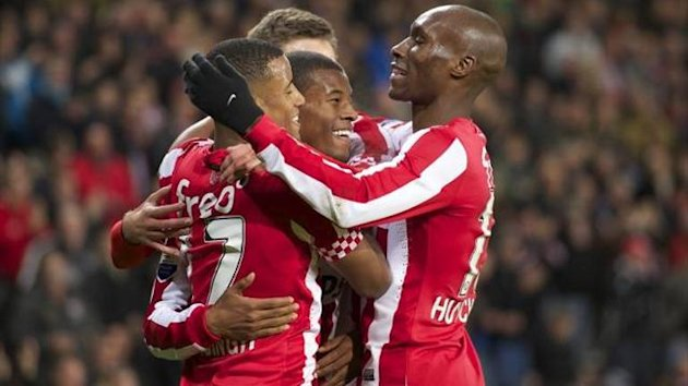 PSV Eindhoven celebrate their win