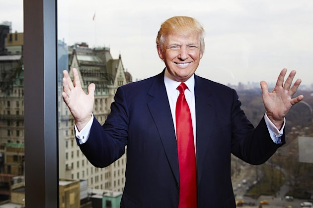 This Feb. 26, 2013 photo shows businessman and TV personality Donald Trump from &quot;The Celebrity Apprentice,&quot; at his office at Trump Tower in New York. The two-hour premiere of &quot;All-Star Celebrity Apprentice&quot; airs Sunday at 9 p.m. EST on NBC. (Photo by Dan Hallman/Invision/AP)