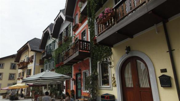 Chinese developer unveils replica Austrian village