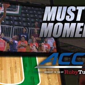 Miami's McClellan Amazing One-handed Alley-Oop | ACC Must See Moment