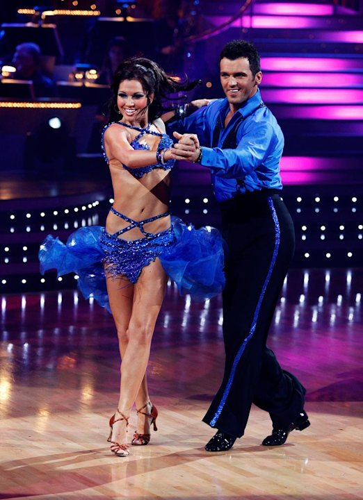 "Melissa Rycroft and Tony Dovolani perform the Samba to ""Jaleo"" by Ricky Martin on ""Dancing with the Stars."""