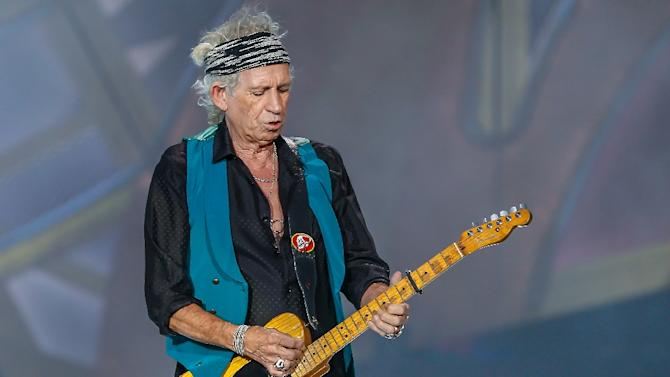 Keith Richards of the Rolling Stones performs at the Indianapolis Motor Speedway on July 4, 2015 in Indianapolis, Indiana