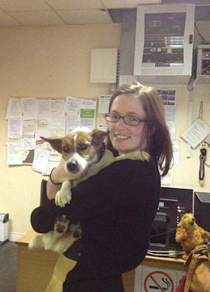 This image made available by Irish Rail shows Deirdre Anglin after being reunited with her Jack Russell terrier Patch Wednesday July 4, 2012 in Dublin, Ireland. When Patch hopped aboard the train to Dublin, the power of Twitter reunited the dog with his master. Irish Rail sent a ``Lost dog!'' tweet after the Jack Russell terrier arrived with Wednesday morning commuters on a train from neighboring Kilcock, County Kildare. By all accounts, the friendly dog had spent his hourlong journey being petted vigorously. After more than 500 retweets in just 32 minutes, the photo found Patch's owner, Deirdre Anglin, who tweeted the state railway: ``That's my dog!''   (AP Photo/Irish Rail, HO)