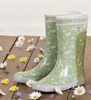 Aigle wellies in Liberty print
