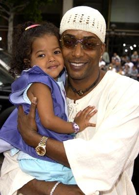 Miguel A. Nunez Jr. and daughter at the Hollywood premiere of Scooby Doo