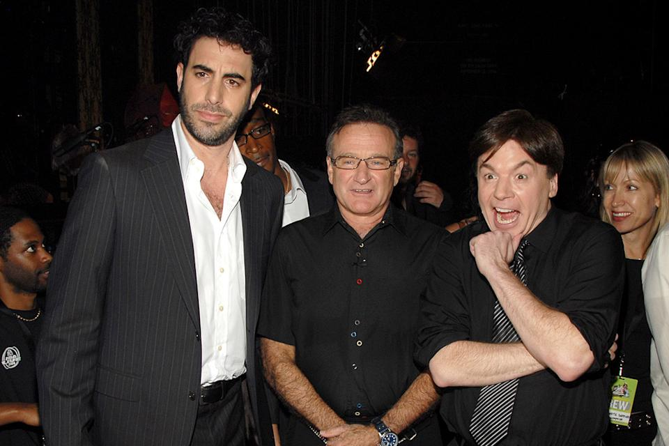 Sacha Baron Cohen 2007 Robin Williams Mike Myers