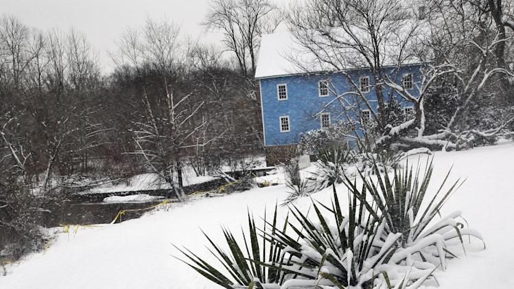 2014. Some parts of the New Jersey shore have 7 inches of fresh snow