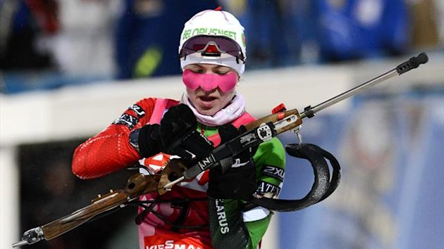 Belarus&#39; Darya Domracheva (AFP)