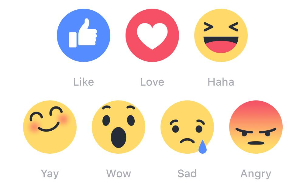 Facebook's Reaction Emoji Let You Go Beyond Likes