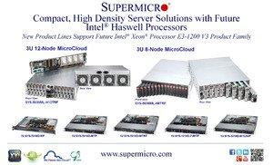 Supermicro® Announces the Highest Density Server Solutions with Coming Intel® Haswell Processors