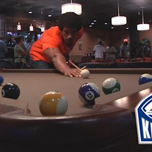 Vic Beasley Beats Cole Stoudt at Pool | #ACCKickoff