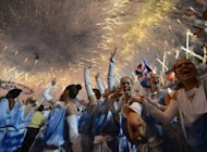 Performers celebrate at the end of the closing ceremony of the 2012 Olympic Games at the Olympic stadium in London, on August 12. Australian media lavishly praised the London Olympics on Monday, saying it came close to Sydney, as sports chiefs Down Under began dissecting what went wrong after the country's below-par medal haul
