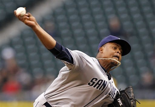 Volquez pitches Padres past Mariners 6-2 for sweep