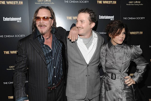 The Wrestler NY Screening 2008 Mickey Rourke Darren Aronofsky Marisa Tomei