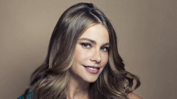 """Columbian actress Sofia Vergara poses for a portrait, on Wednesday, April 17, 2013 in New York. Vergara is currently on hiatus from """"Modern Family,"""" but has several films coming out , including a starring role in the Robert Rodriguez thriller, """"Machete Kills."""" (Photo by Victoria Will/Invision/AP)"""
