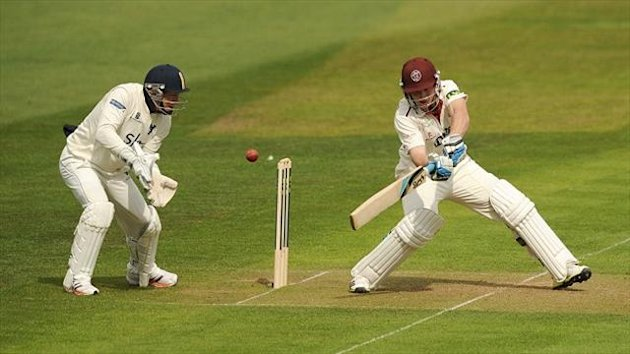 Jos Buttler's century put Somerset in control at Taunton