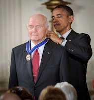 John Glenn Receives Medal of Freedom