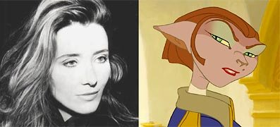 Emma Thompson is the voice of Captain Amelia in Disney's Treasure Planet
