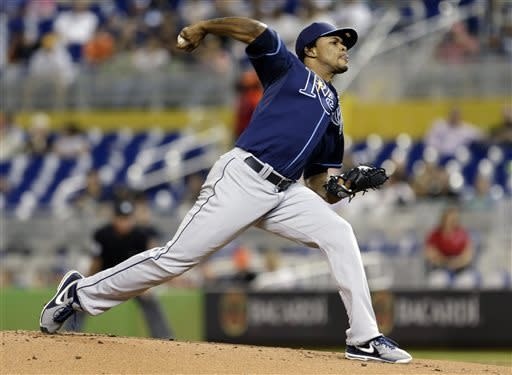 Colome win in ML debut, Rays beat Marlins 5-2