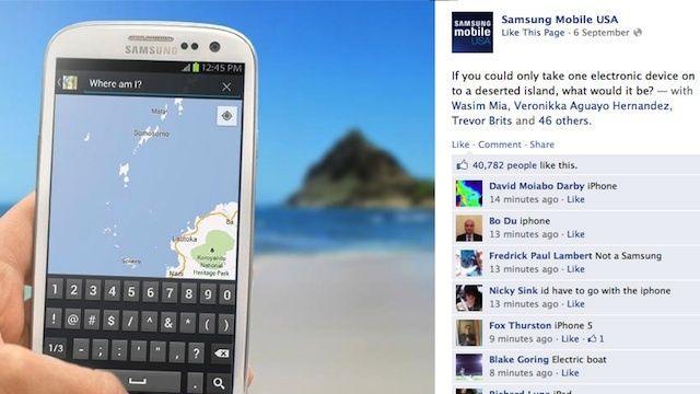 Samsung accidentally promotes iPhone 5 when Facebook campaign backfires