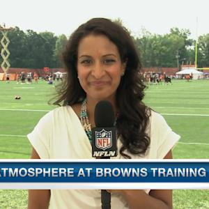 Cleveland Browns quarterback Johnny Manziel and the atmosphere at training camp