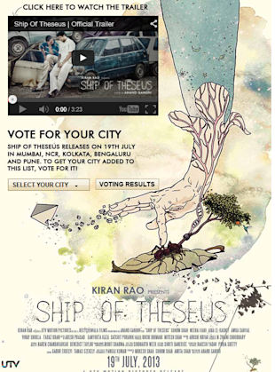 How Bollywood Movie 'Ship Of Theseus' Was Promoted On Social Media image Ship of Theseus Facebook app