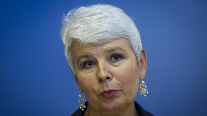 In this Aug. 22, 2011 file photo, Croatia's former prime minister Jadranka Kosor attends a news conference in Zagreb, Croatia. Women in the Balkans are leading a political revolution. Historically given little say in the politics of the conservative region, they are increasingly taking top leadership posts, signaling that the traditional rules are changing as Balkan countries shake off their war pasts and move toward membership in the European Union. (AP Photo/Darko Bandic, File)