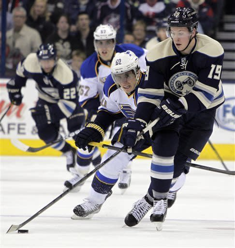 Blue Jackets score 4 straight goals, top Blues 4-1