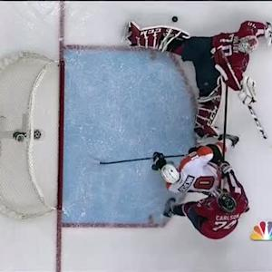 Holtby extends to rob Simmonds with toe save