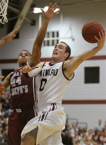 No. 24 Harvard beats Saint Joseph's 74-69