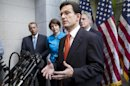 FILE - In this Feb. 15, 2012, file photo, House Majority Leader Eric Cantor of Va., accompanied by fellow GOP leaders House Speaker John Boehner of Ohio, Rep. Cathy McMorris Rodgers, R-Wash., Cantor, and House Majority Whip Kevin McCarthy, R-Calif., gestures during a news conference on Capitol Hill in Washington, to discuss the payroll tax cut negotiations. Republicans are calling it &quot;Taxmageddon,&quot; the big tax increase awaiting nearly every American family at the end of the year, when a long list of tax cuts are scheduled to expire unless Congress acts. GOP leaders in Congress claim it would be &quot;the largest tax increase in American history.&quot; Except it wouldnt be, not when you take into account the big tax increases used to help pay for World War II. (AP Photo/J. Scott Applewhite, File)