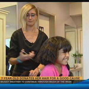 Local 7-year-old donates her hair for a good cause