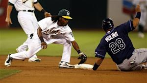 A's edge Rays in 15th inning